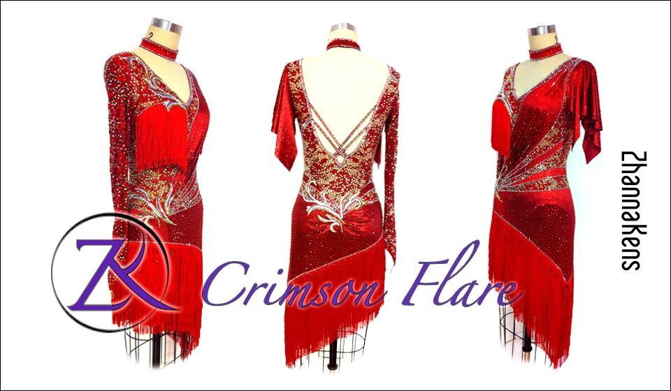 Zhannakens Crimson flare dress