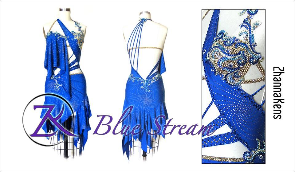Zhannakens Blue stream dress