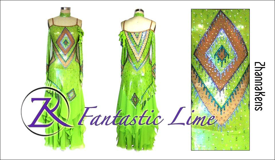 Zhannakens Fantastic lime dress