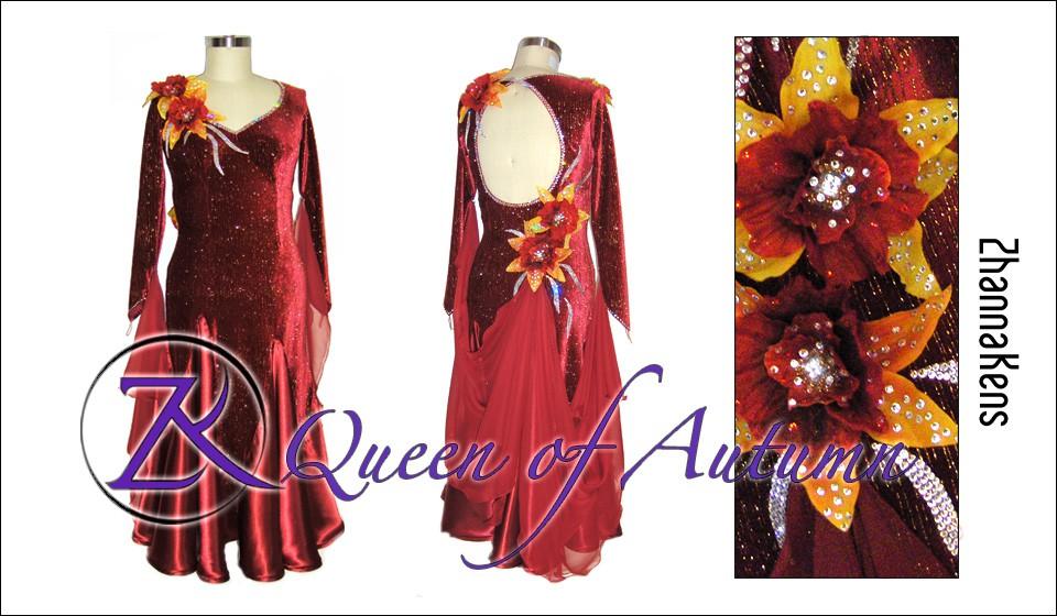 Zhannakens Queen of autumn dress