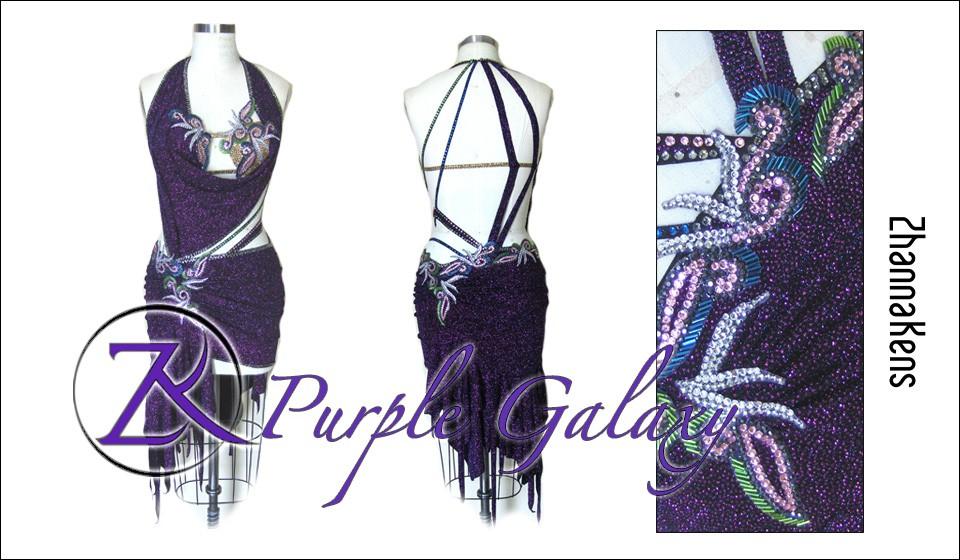 Zhannakens Purple galaxy dress